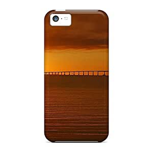 Awesome Case Cover/iphone 5c Defender Case Cover(golden Ocean Sunset)