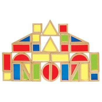 Guidecraft Rainbow Blocks Set – 30 Pieces, Baby & Kids Zone