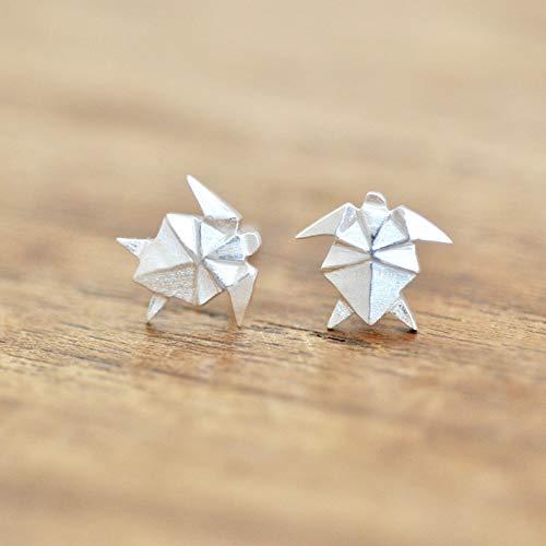 - Origami Turtle Earrings in Sterling Silver 925 - Jamber Jewels