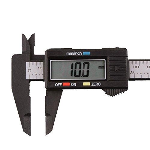 Cathy Clara 150mm/6inch LCD Electronic Digital Caliper Stainless Steel Body Carbon Fiber Vernier Caliper Gauge Micrometer