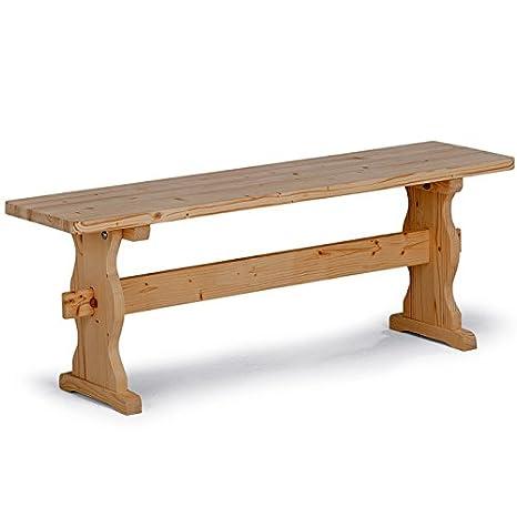 Panca per tavolo da pranzo rustico da cucina in legno massello ...