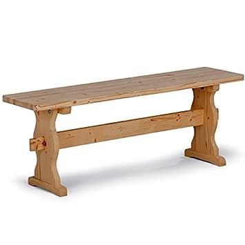 panca per tavolo da pranzo rustico da cucina in legno massello ... - Panche In Legno Per Cucina