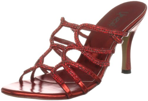 Unze Evening Sandals L18542W - Sandalias para mujer Rojo