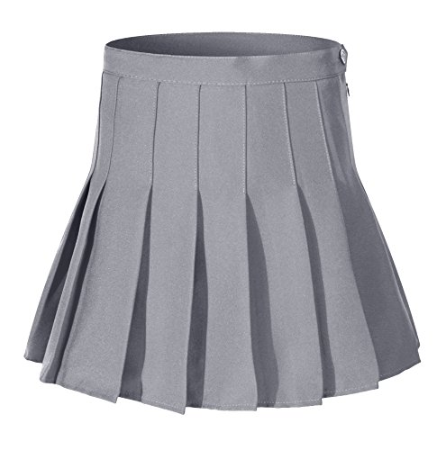 Falda escolar plisada para niña colegio tenis scooters Grey Single-layer