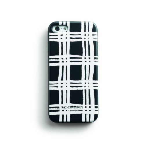 Coach Painted Plaid B&W iPhone 5 Molded Silicone