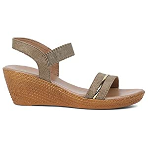 BATA Women's Lille Olive Fashion Sandals-5 (6617915)