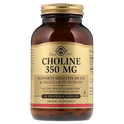 Solgar - Choline 350 mg, 100 Vegetable - Choline 100 Capsules