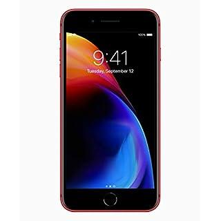 Apple iPhone 8 Plus, 64GB, Red - Fully Unlocked (Renewed)