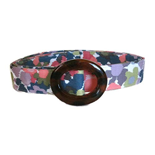 - Women's Fabric Belt Pastel Flowered Belt/Womens Ribbon Belt/Preppy Cloth Belt - Green and Pink Floral Belt/Wide and Skinny Belt/Plus Sized Belt