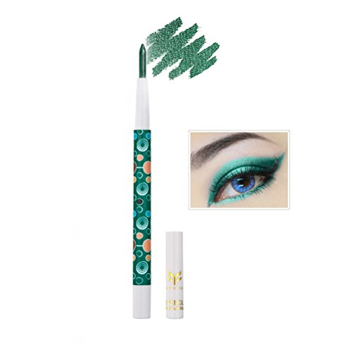 Frcolor Eyeshadow Pencil,Eyes Shimmer Eye Shadow Stick Pearl Light Eyeliner Pen for Eye Makeup Halloween eyeshadow(Grass (Green Eyeshadow Halloween)