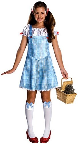 Dorothy And Scarecrow Costumes - Wizard Of Oz Dorothy Costume, Blue/White, Medium