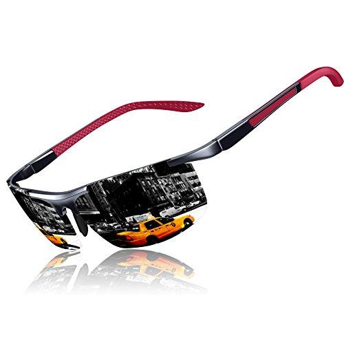 ultraligero KITHDIA Gafas Gris metal UV400 irrompible sol de 100 marco de con deportivas polarizadas para hombre y 8Fd8ar
