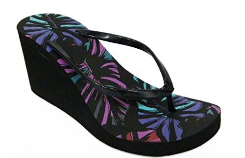 Scarpe donna, infradito con zeppa, multicolor, EMPORIO ARMANI swimwear, Art: 262526 5P336