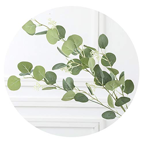 Charmg artificial plants 5PCS/LOT Fake Leaf Eucalyptus Leaf Fruit Seed Money Leaf FakeFlower Wedding Home Decoration Simulation Plant CJJ010,S,5pcs -