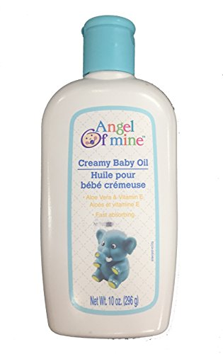 Creamy Baby Oil with Aloe Vera & Vitamin E - 10 oz, (Angel of Mine) (Pack of 3) Photo #2