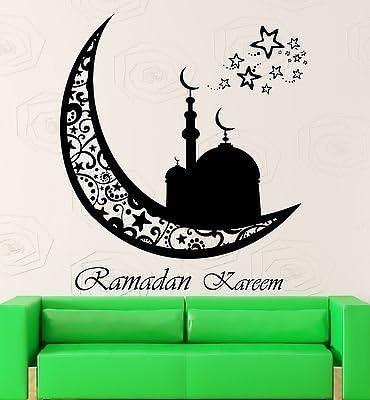 Ramadan Kareem Islamic Wall Sticker Calligraphy Arabic shop window vinyl decal 2