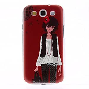 Red Flower Pattern Hard Case for Samsung Galaxy S3 I9300