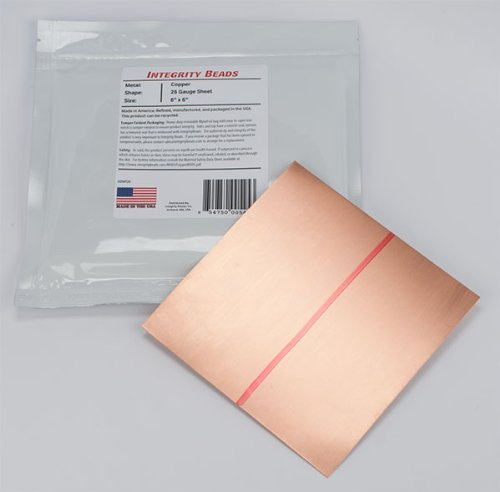 Copper 26 Gauge Sheet - 6 x 6