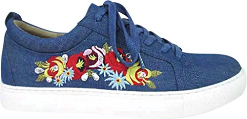 Kenneth Cole Reazione Womens Kam-era Fashion Sneaker Blue Denim