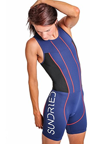 (Sundried Womens Premium Padded Triathlon Tri Suit Compression Duathlon Running Swimming Cycling Skin Suit (Medium))
