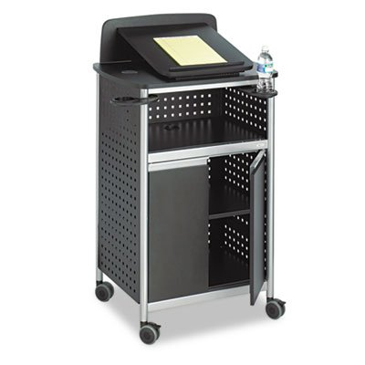 Scoot Multipurpose Lectern, 28-3/4w x 22d x 49-3/4h, Black/Silver, Sold as 1 Each