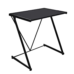 Urban Shop Black Metal Z-shaped Student Writing Desk