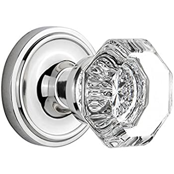 Nostalgic Warehouse Classic Rosette with Crystal Glass Door Knob ...