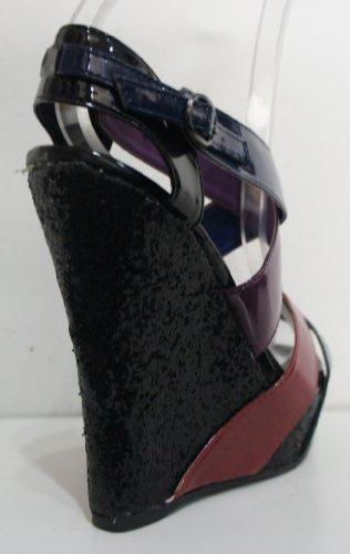 Plattformen Color Wedge Multi Glitter Black OFwH7B