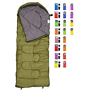 REVALCAMP Sleeping Bag For Cold Weather 4 Season Envelope Shape Bags By Great For Kids Teens Adults Warm And Lightweight Perfect For Hiking Backpacking Camping