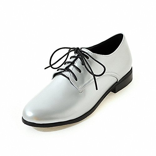 Lace Hecater leather 3 patent Women's Shoes oxford Silver up Wingtip Ufqw5fv