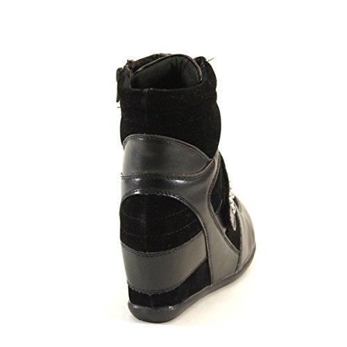 Ny Brieten Kvinna Krok Loop Snörning Mode Kil Sneakers
