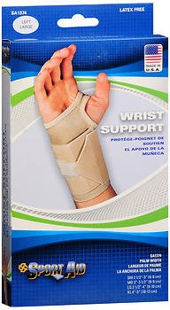 Sport Aid Wrist Support LG Left - 1 ea., Pack of 6 by SportAid