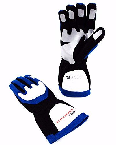 24d8d894945 Racerdirect RJS Racing SFI 3.3 1 Elite Driving Racing Gloves Blue Size  Medium 600030124 ...