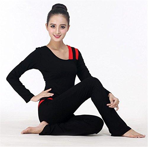 Femme sport costume hiver formation vêtements longues black de de danse à manches yoga de vêtements d4qqOBT