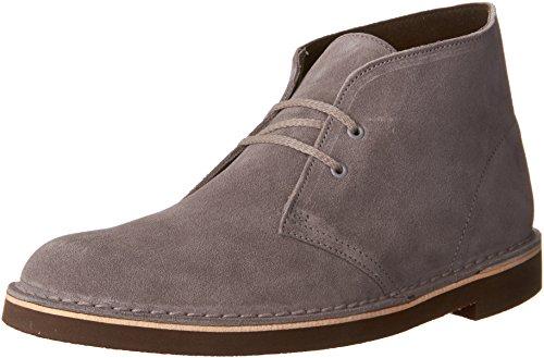 Clarks Men's Bushacre 2 Chukka Boot, Grey Suede, 11 M US