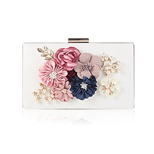 Shoulder White Handbag Pearl Bag Dinner Bag Banquet Party Flower Women Bag FxYOY