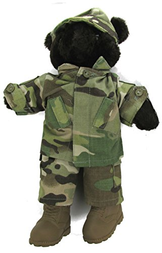 Male Stuffed Plush Teddy Bear in Military Multicam - America Bear Teddy