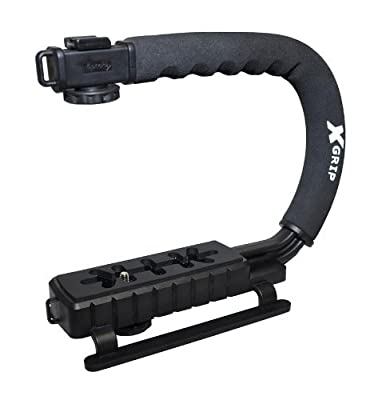 Opteka X-GRIP Professional Camera / Camcorder Action Stabilizing Handle- Black from Opteka