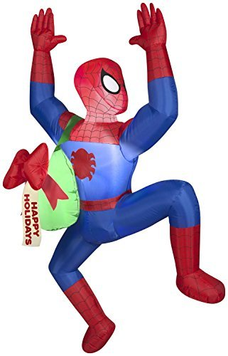Christmas Decor Airblown Inflatable 5 Climbing - Spider Man Inflatable