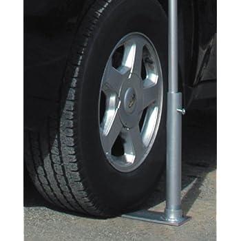 Amazoncom JTD Enterprises Flagpole To Go Portable Flagpole Tire - Car show wheel stands