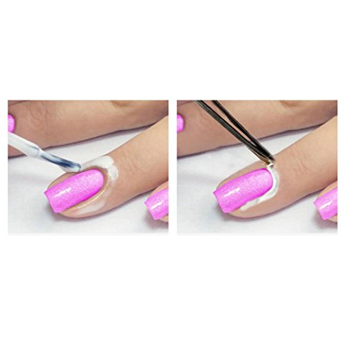 Nail Art Peel Off Base Coat Liquid Cream Tape Polish Palisade Manicure (Pink)