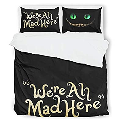 VVEDesign Quilt Bedding Set Oversized Lightweight Cartoon Cat 1 Quilt Cover + 1 Pillow Sham for Boys Bedroom White 104x90 inch: Kitchen & Dining
