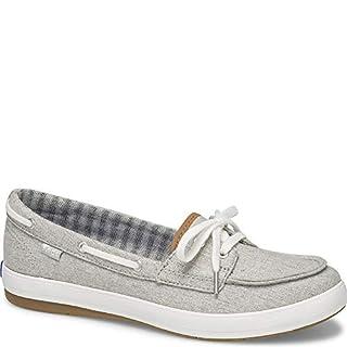 Keds Women's Charter Chambray Sneaker, Light Grey, 9.5 M US
