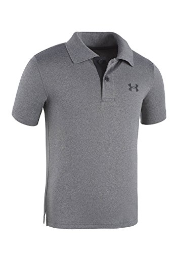 Carbon Match - Under Armour Babys UA Match Polo, Carbon Heather, 12 Months