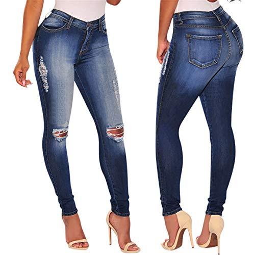 Slim Denim Zipper Bellelove Pantalon Slim Trouser Femmes Bleu Jeans Trou Fly Rgulier Cher Jeans Pas Longue Dgrad Longs Lav wZAqWvR4wz