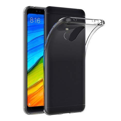 Bked® Back Cover For Redmi Mi Note 5  Soft Transparent