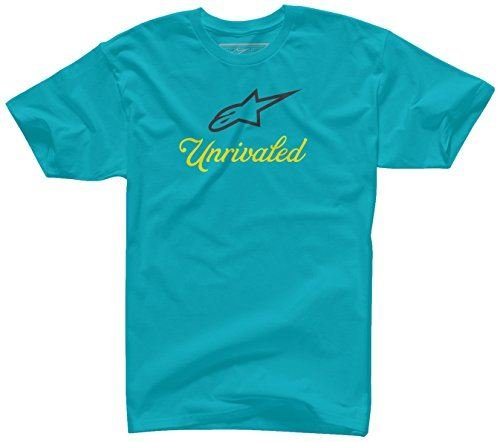 Alpinestars Mens Unrivaled Short-Sleeve Shirt Large Turquoise