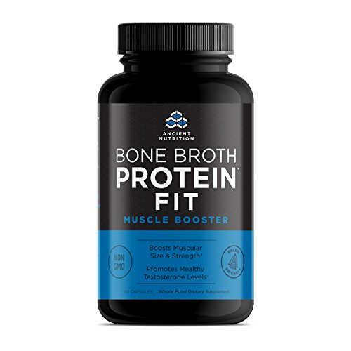 Ancient Nutrition Bone Broth Protein FIT Muscle Booster, Capsules 180 Count – Boosts Muscle Size and Strength Review