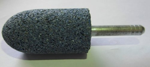 A11 x 6.35mm 1/4' Spindle Diameter 46 Grit Blue Mounted Points Grinding Off Weld, Castings or General Fettling x 10 VSM Abrasives