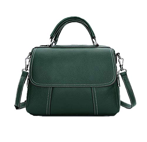 Green Tracolla Con In Cuciture Pelle One Borsa A colore Boston Nero Bag Acvxz Size Dimensioni Mano qEZRwt